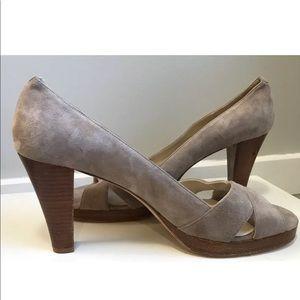 Boden Size 41 US 9.5 High Heel Tan Suede Open Toe